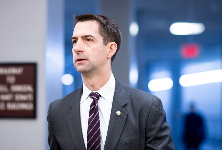 Sen. Tom Cotton (R-Ark.), pictured here on March 10, published a shocking op-ed in The New York Times on Wednesday urging the