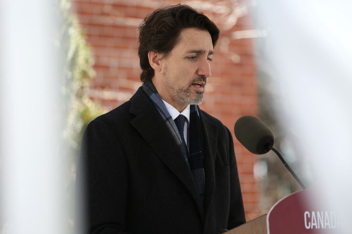Prime Minister Justin Trudeau at a news conference April 20, 2020 in Ottawa, Ont. Trudeau has said provinces can move forward with their own forms of rent relief amid the pandemic.