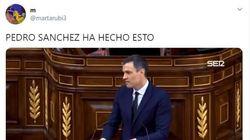 El momento de Pedro Sánchez en el Congreso que arrasa en Twitter: 40.000 'me gusta' y