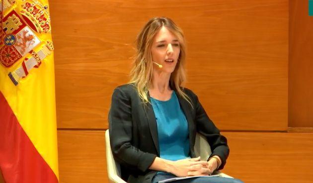 Cayetana Álvarez de Toledo en la presentación del libro de Daniel