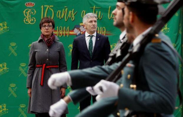 Gámez y Marlaska, en un acto de la Guardia
