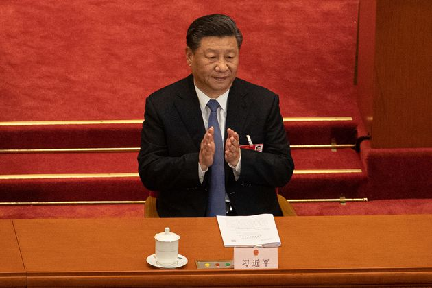 Chinese President Xi Jinping during the second plenary session of China's National People's Congress...