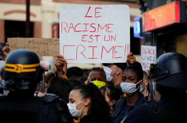 Une manifestationà Lille, le 4 juin 2020, en soutien au mouvement