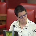 Revuelo en el Congreso por la pegatina de una diputada de ERC contra