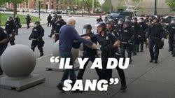 Un policier pousse violemment à terre un homme âgé près de New York, un enquête