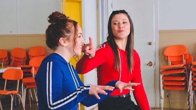 Andréanne Fortin et Olivia Leclerc pour leur projet YouTube «Gilles pis la