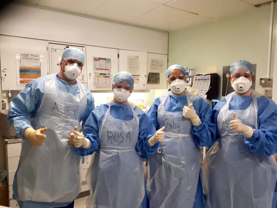 Alex Bereziuk and other CNWL medics in PPE