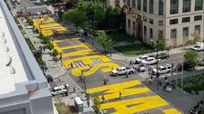 DC Mayor Has 'Black Lives Matter' Painted On Street Leading To White House