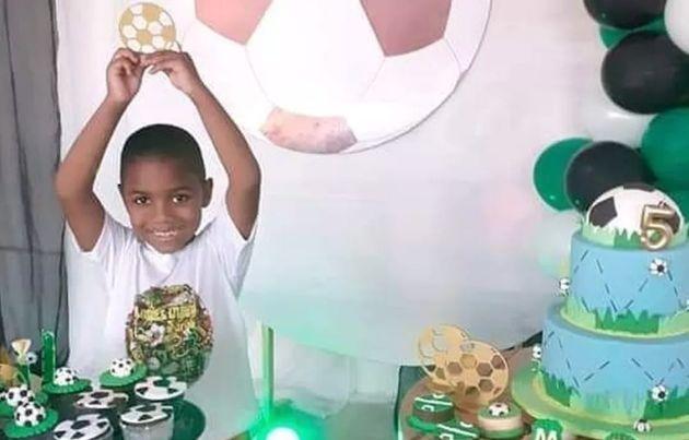 Miguel Otávio, em sua festa de 5 anos com tema de