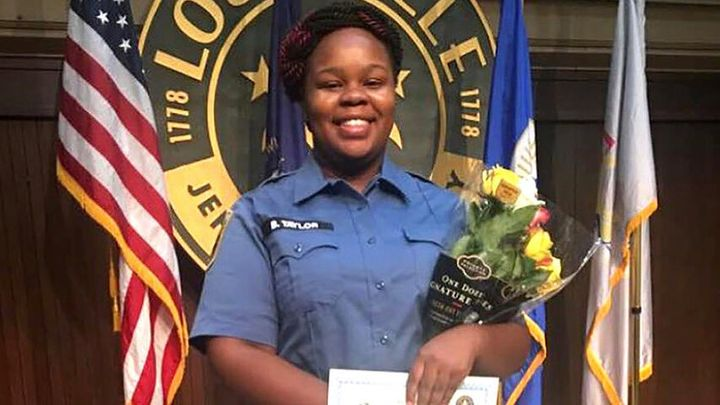 Breonna Taylor, an emergency room technician, at a graduation ceremony in Louisville, Kentucky.