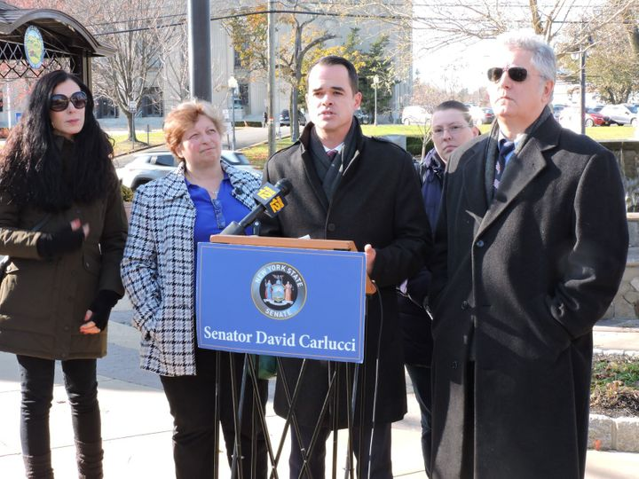 New York state Sen. David Carlucci (center) is a Democrat, but until 2018 he was part of a group that helped keep Republicans