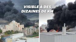 Un incendie visible depuis Paris a pris dans un entrepôt