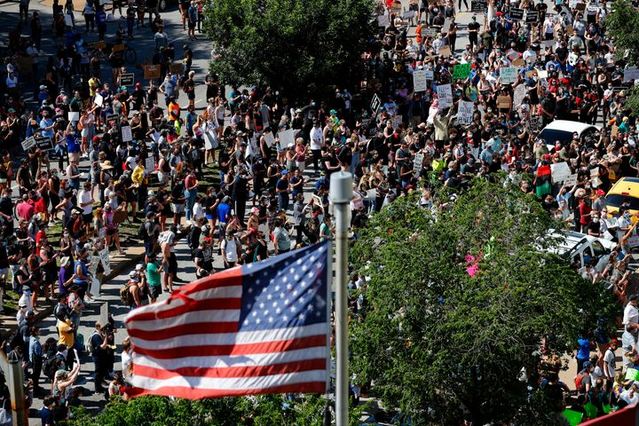 The current wave of protests, like this gathering outside St. Louis' City Justice Center on June 1, is generally supported by