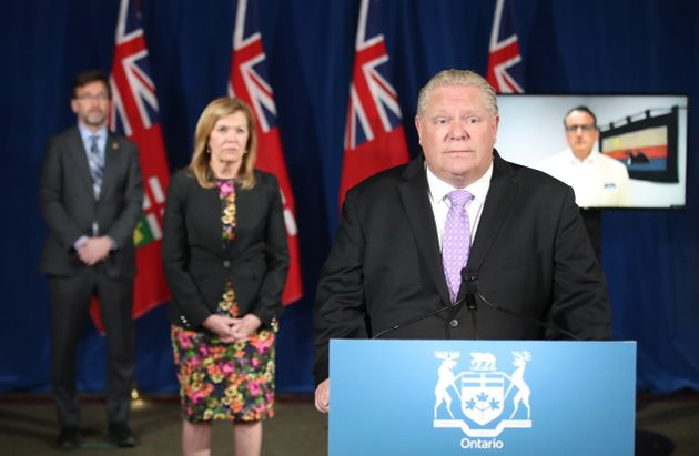 Minister Greg Rickford joins Premier Doug Ford by teleconference for an announcement June 1, 2020. Rickford's...