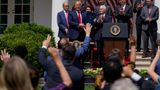President Donald Trump speaks after signing the Paycheck Protection Program Flexibility Act during a news conference in the Rose Garden of the White House, Friday, June 5, 2020, in Washington. (AP Photo/Evan Vucci)