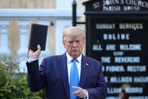 Donald Trump con la