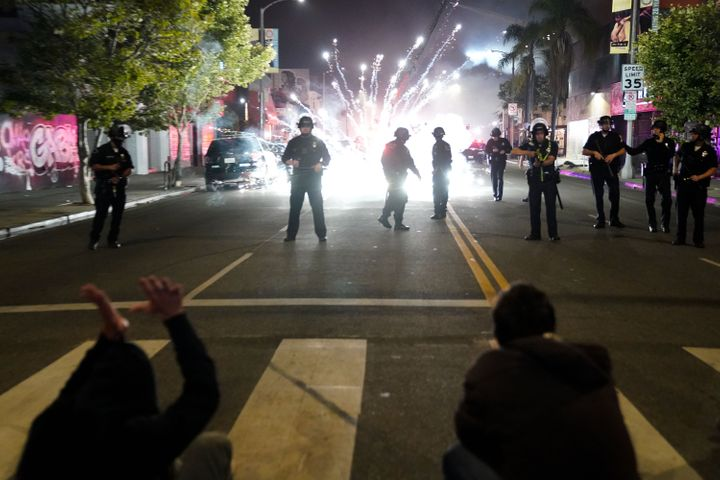 Days after the Los Angeles Police Department's violent crackdown on protests against police brutality, the city's elected off