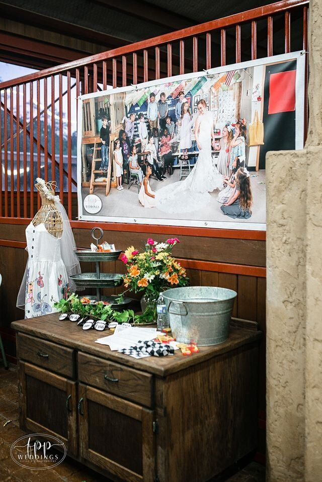 At Smith's wedding, she set up a table dedicated to her students.&nbsp