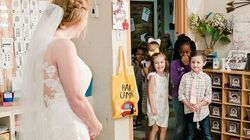 This Kindergarten Teacher Did A Wedding 'First Look' With Her