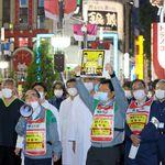 夜の歌舞伎町で「3密避けて」