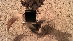 '화성 두더지'가 땅 속으로 들어간