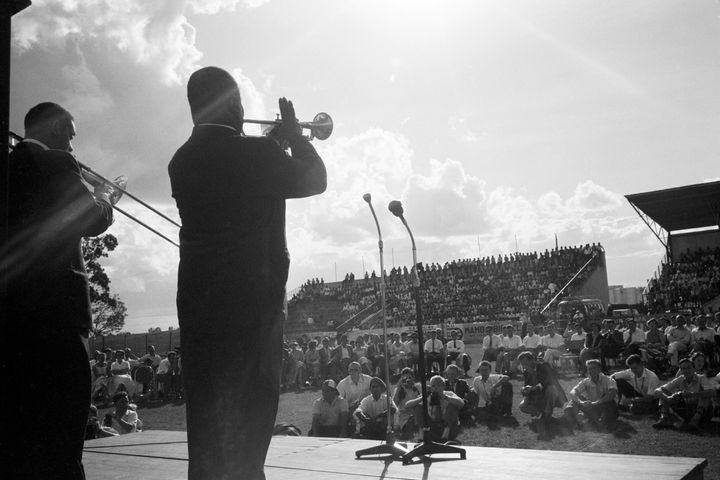 Louis Armstrong performed during a State Department-organized tour of Africa in late 1960. Three years earlier, Armstrong had