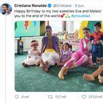Sorpresa por lo que se ve en esta foto de Cristiano con sus hijos: mira bien a la