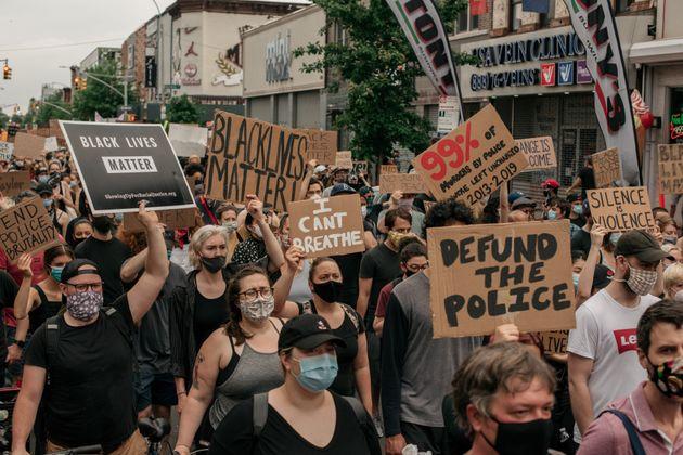 Protesta en EEUU contra el racismo y la violencia