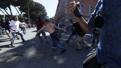 Tensioni a Circo Massimo alla manifestazione dei gruppi di estrema