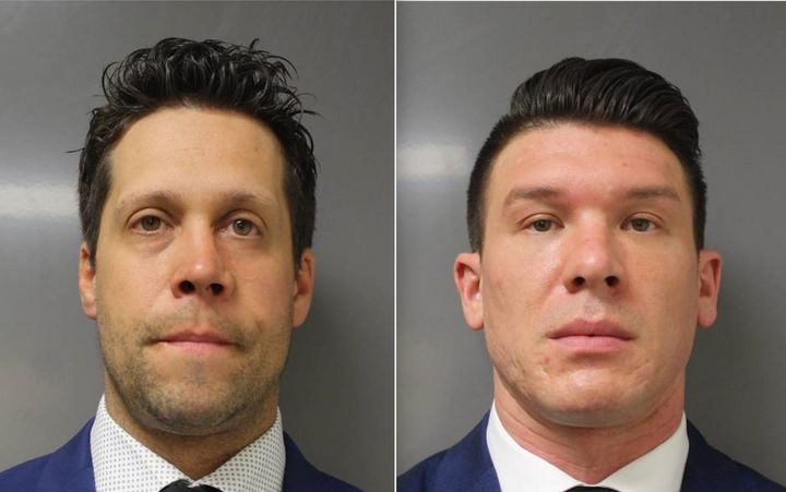 On Saturday, 39-year-old Aaron Torgalski, left, and 32-year-old Robert McCabe, right, were charged with assault in the second