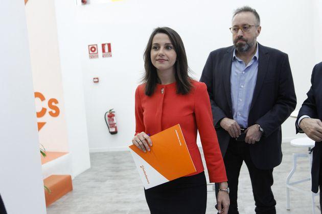 Ines Arrimadas y Juan Carlos Girauta, en octubre de