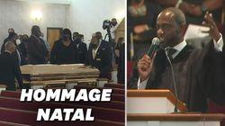 L'hommage émouvant des proches de George Floyd dans sa ville