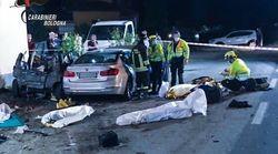 Tragico schianto nel Bolognese: 4 morti, anche una