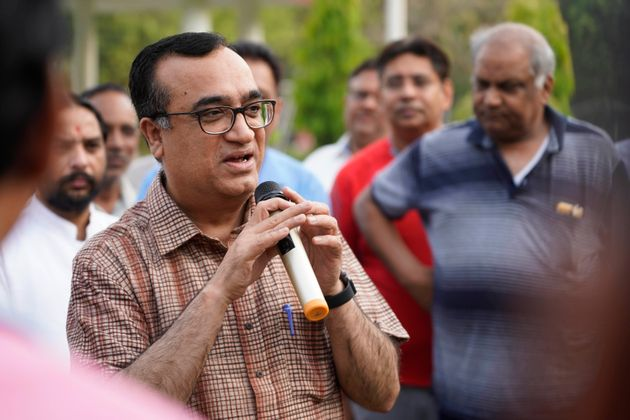 Congress spokesperson Ajay Maken in a file