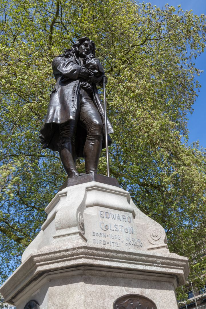 The statue of Edward Colston before today.
