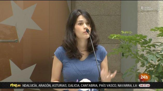 Información sobre Isa Serra en el 'Canal 24 Horas' de
