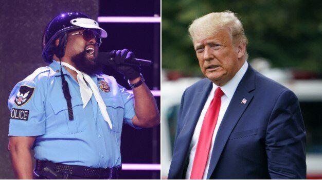 Victor Willis, ici en septembre 2017 à Los Angeles, a demandé à Donald Trump, ici le 5 juin à la Maison...