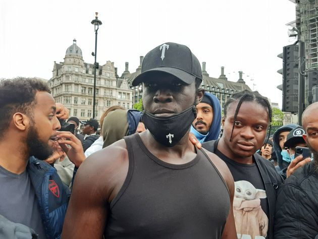 Stormzy at the Black Lives Matter protest rally in Parliament Square on