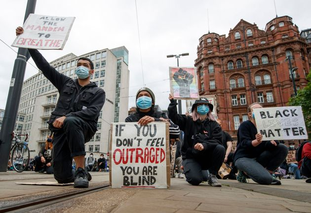 The Black Lives Matter protest rally in Manchester on