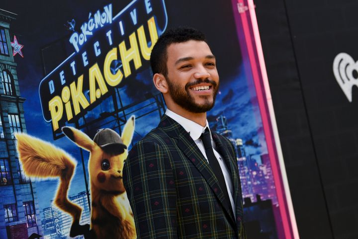 "Justice Smith attends the premiere of ""Detective Pikachu"" in May 2019."