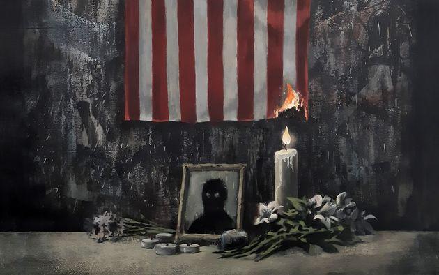 L'œuvre de Banksy pour George Floyd et contre le