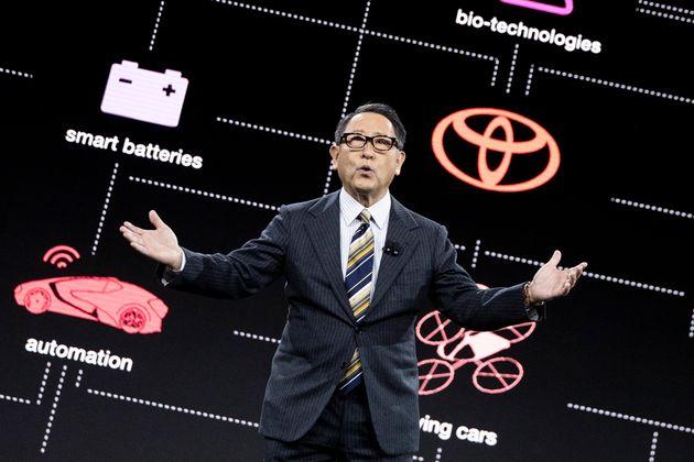 CESに登壇した豊田章男氏(2020年1月6日)