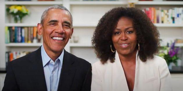 Gli Obama alla