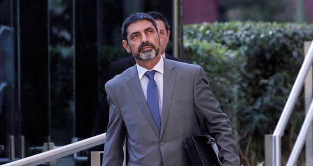 El mayor de los Mossos d'Esquadra, Josep Lluís Trapero, sale de la Audiencia tras prestar declaración...