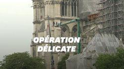 Le démontage de l'échafaudage de la flèche de Notre-Dame-de-Paris a