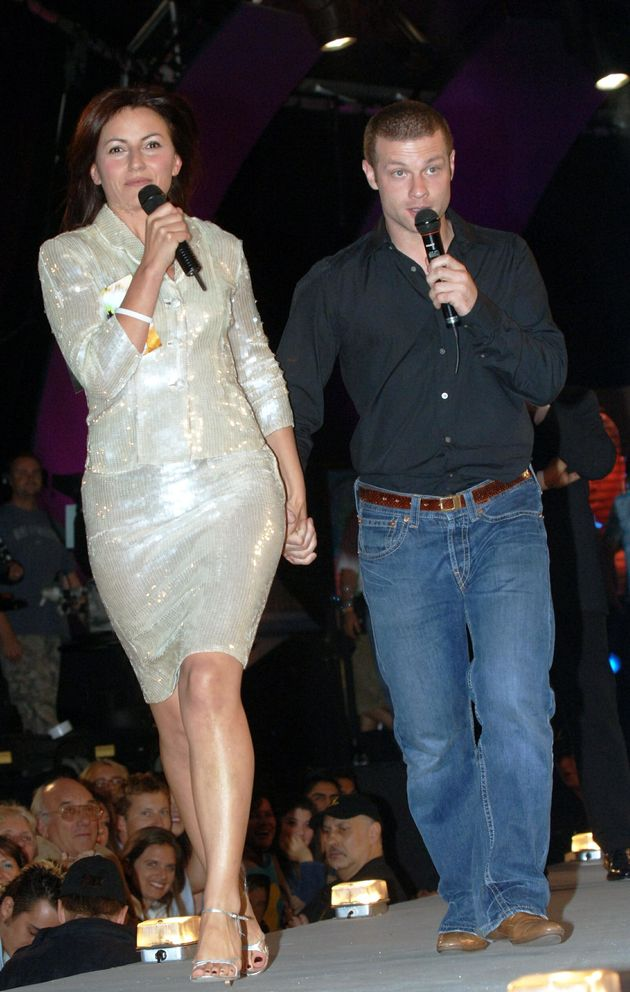 Davina McCall and Dermot O'Leary during the Big Brother final in