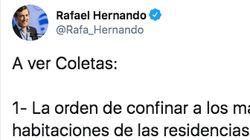 Rafael Hernando (PP) carga contra Iglesias en Twitter y la respuesta de este es todo un