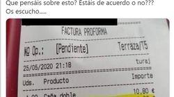 Indigna al mostrar la cuenta de un restaurante de Tenerife: la clave es ese euro de