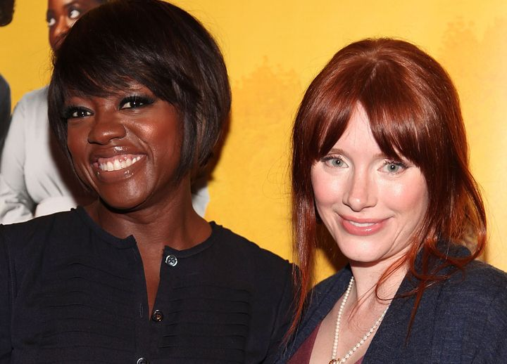 """Viola Davis and Bryce Dallas Howard attend a screening of """"The Help"""" in 2011."""