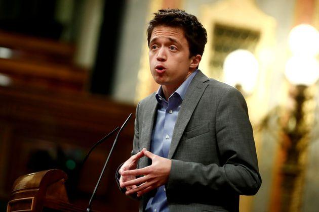 El portavoz de Más País, Íñigo Errejón, en el